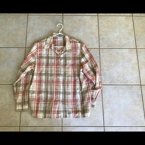 Alfred Dunner Size 12 Long Sleeved Plaid Shirt